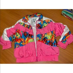 Vintage windbreaker with fish design size M
